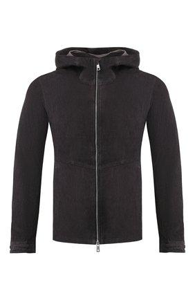 Мужская кожаная куртка GIORGIO BRATO черного цвета, арт. GU20S90050LDV | Фото 1