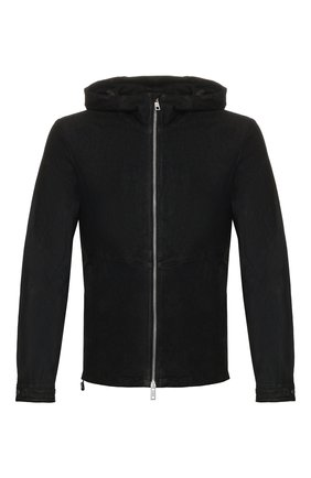 Мужская кожаная куртка GIORGIO BRATO черного цвета, арт. GU20S9005GRASS | Фото 1