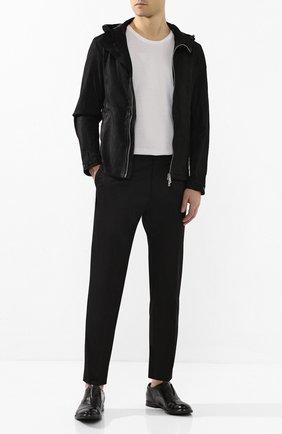 Мужская кожаная куртка GIORGIO BRATO черного цвета, арт. GU20S9005GRASS | Фото 2