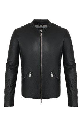 Мужская кожаная куртка GIORGIO BRATO черного цвета, арт. GU20S9208PMS0 | Фото 1