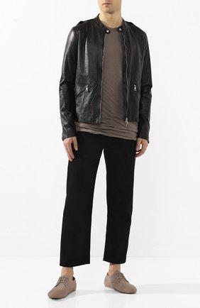Мужская кожаная куртка GIORGIO BRATO черного цвета, арт. GU20S9208PMS0 | Фото 2