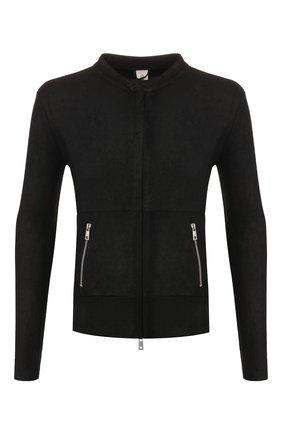 Мужская кожаная куртка GIORGIO BRATO черного цвета, арт. GU20S9486GRASS | Фото 1