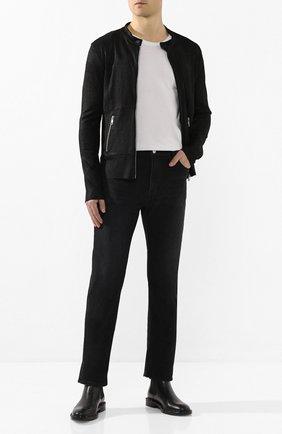 Мужская кожаная куртка GIORGIO BRATO черного цвета, арт. GU20S9486GRASS | Фото 2