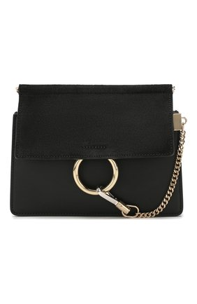 Женская сумка faye mini CHLOÉ черного цвета, арт. CHC20SS202H20   Фото 1