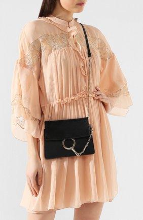 Женская сумка faye mini CHLOÉ черного цвета, арт. CHC20SS202H20   Фото 2