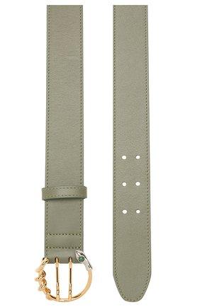 Женский кожаный ремень CHLOÉ зеленого цвета, арт. CHC20SC032H1Z | Фото 2