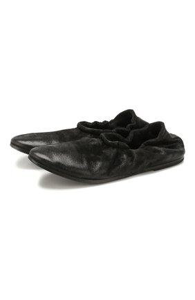 Женские кожаные балетки MARSELL черного цвета, арт. MW5255/PELLE V0L0NATA | Фото 1