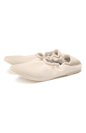 Женские замшевые балетки MARSELL белого цвета, арт. MW5255/PELLE R0VESCI0 | Фото 1