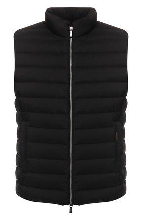 Мужской пуховый жилет MOORER черного цвета, арт. CALAF-S31/P20M360REFL | Фото 1 (Статус проверки: Проверена категория; Материал утеплителя: Пух и перо; Материал подклада: Синтетический материал; Материал внешний: Синтетический материал; Мужское Кросс-КТ: Верхняя одежда; Длина (верхняя одежда): Короткие; Кросс-КТ: Пуховик, Куртка; Стили: Кэжуэл)