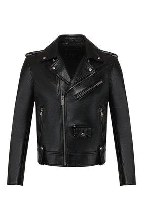Мужская кожаная куртка GIVENCHY черного цвета, арт. BM00FH60E4 | Фото 1