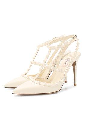 Женская кожаные туфли valentino garavani rockstud VALENTINO белого цвета, арт. TW2S0393/VB8 | Фото 1