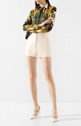 Женская кожаные туфли valentino garavani rockstud VALENTINO белого цвета, арт. TW2S0393/VB8 | Фото 2
