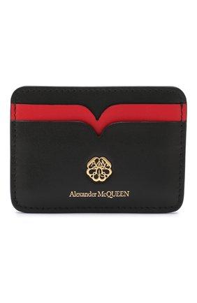 Женский кожаный футляр для кредитных карт ALEXANDER MCQUEEN черного цвета, арт. 610198/1CWDT | Фото 1