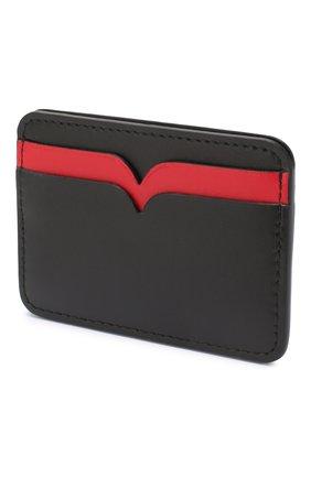 Женский кожаный футляр для кредитных карт ALEXANDER MCQUEEN черного цвета, арт. 610198/1CWDT | Фото 2