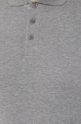 Мужское хлопковое поло Z ZEGNA серого цвета, арт. VU360/ZZ619   Фото 5
