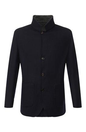 Мужской двусторонний кашемировый пиджак BRUNELLO CUCINELLI темно-синего цвета, арт. MN4719920 | Фото 1