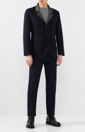Мужской двусторонний кашемировый пиджак BRUNELLO CUCINELLI темно-синего цвета, арт. MN4719920 | Фото 2