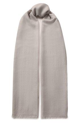 Женская шаль из смеси кашемира и шелка LORO PIANA серого цвета, арт. FAL0015 | Фото 1