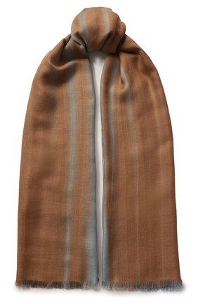 Женская шаль из смеси кашемира и шелка LORO PIANA голубого цвета, арт. FAL0010 | Фото 1