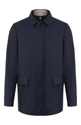 Мужская шерстяная куртка LORO PIANA темно-синего цвета, арт. FAI9492 | Фото 1
