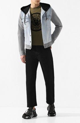 Мужская джинсовая куртка BALMAIN разноцветного цвета, арт. TH18578/Z111 | Фото 2