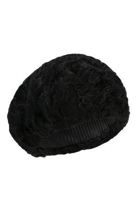 Женский берет из меха каракульчи FURLAND черного цвета, арт. 0013607810004200000 | Фото 1