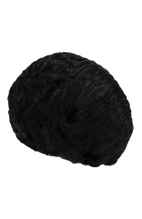 Женский берет из меха каракульчи FURLAND черного цвета, арт. 0013607810004200000 | Фото 2