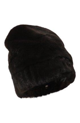 Женская шапка из меха норки FURLAND черного цвета, арт. 0001400110129300000 | Фото 1