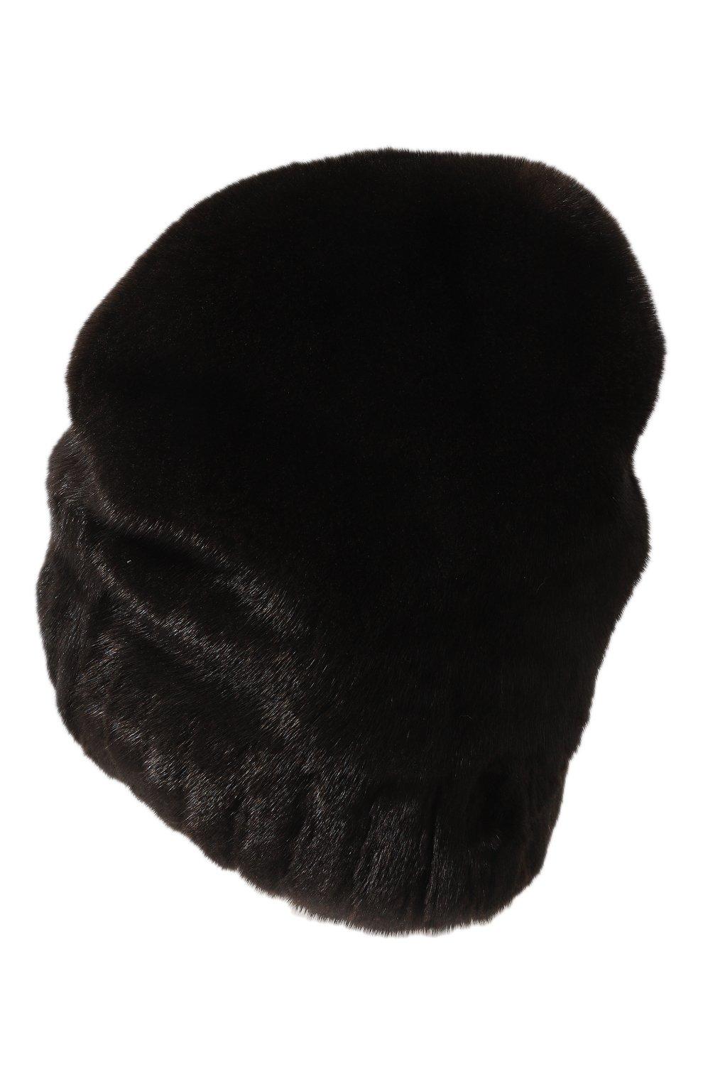Женская шапка из меха норки FURLAND черного цвета, арт. 0001400110129300000 | Фото 2