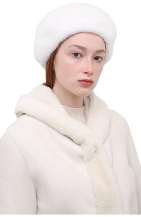 Женский берет из меха норки KUSSENKOVV белого цвета, арт. 011700001023   Фото 2 (Материал: Натуральный мех; Статус проверки: Проверена категория)