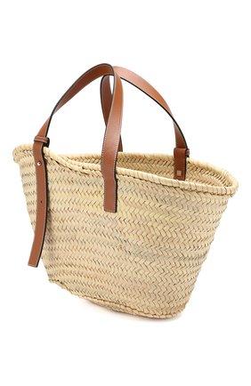 Женская сумка basket LOEWE бежевого цвета, арт. 327.02.S92 | Фото 3