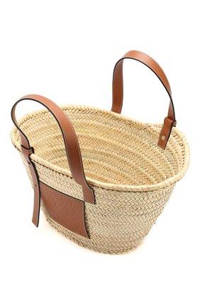 Женская сумка basket LOEWE бежевого цвета, арт. 327.02.S92 | Фото 4