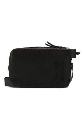 Мужская сумка 11 BY BORIS BIDJAN SABERI черного цвета, арт. WALLET2B/F-1504 | Фото 1