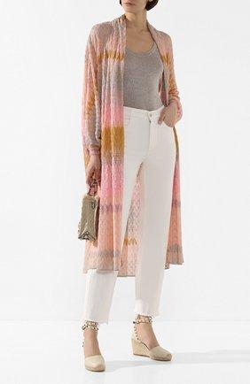 Женские кожаные босоножки valentino garavani rockstud double VALENTINO белого цвета, арт. TW2S0780/VT0 | Фото 2