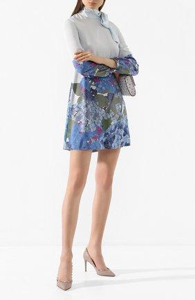 Женская кожаные туфли valentino garavani rockstud VALENTINO бежевого цвета, арт. TW2S0A04/V0D | Фото 2