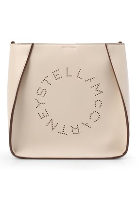 Женская сумка stella logo mini STELLA MCCARTNEY кремвого цвета, арт. 700073/W8542 | Фото 1 (Статус проверки: Проверена категория; Материал: Экокожа, Текстиль; Размер: mini; Ремень/цепочка: На ремешке; Сумки-технические: Сумки через плечо)