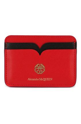 Женский кожаный футляр для кредитных карт ALEXANDER MCQUEEN красного цвета, арт. 610198/1CWDT | Фото 1