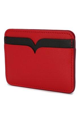 Женский кожаный футляр для кредитных карт ALEXANDER MCQUEEN красного цвета, арт. 610198/1CWDT | Фото 2