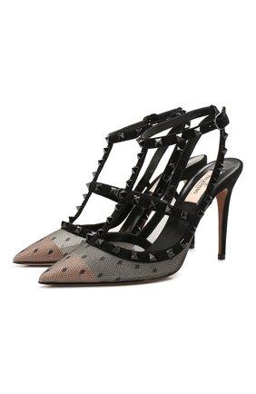 Текстильные туфли Valentino Garavani Rockstud   Фото №1