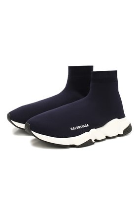 Мужские текстильные кроссовки speed BALENCIAGA синего цвета, арт. 587286/W1702   Фото 1