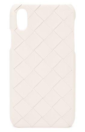 Мужской чехол для iphone x/xs BOTTEGA VENETA белого цвета, арт. 592060/VCPP2 | Фото 1