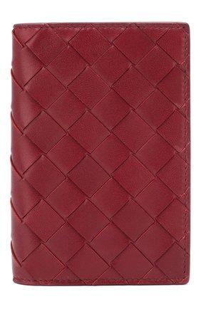 Женского кожаная обложка для паспорта BOTTEGA VENETA бордового цвета, арт. 608061/VCPP2 | Фото 1