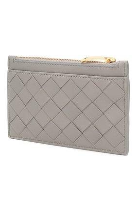 Женская кожаный футляр для ключей BOTTEGA VENETA серого цвета, арт. 608784/VCPP3 | Фото 2