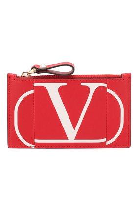 Женский кожаный футляр для кредитных карт valentino garavani VALENTINO красного цвета, арт. TW2P0S76/KZQ | Фото 1
