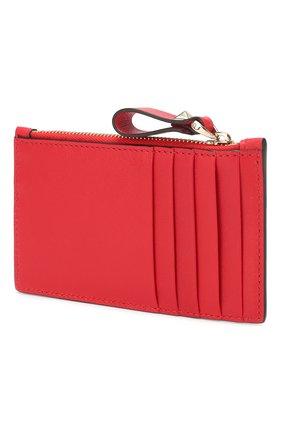 Женский кожаный футляр для кредитных карт valentino garavani VALENTINO красного цвета, арт. TW2P0S76/KZQ | Фото 2