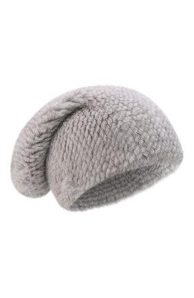 Женская шапка из меха норки KUSSENKOVV голубого цвета, арт. 050750036071   Фото 1 (Материал: Натуральный мех; Статус проверки: Проверена категория)