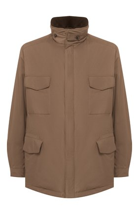 Мужская куртка с меховой подкладкой LORO PIANA коричневого цвета, арт. FAI9732 | Фото 1
