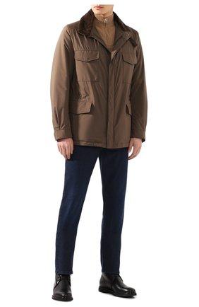 Мужская куртка с меховой подкладкой LORO PIANA коричневого цвета, арт. FAI9732 | Фото 2