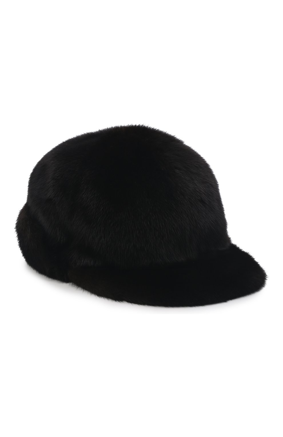 Мужской бейсболка из меха норки FURLAND черного цвета, арт. 0118202110110300115   Фото 1
