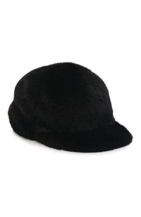 Мужской бейсболка из меха норки FURLAND черного цвета, арт. 0118202110110300115 | Фото 1